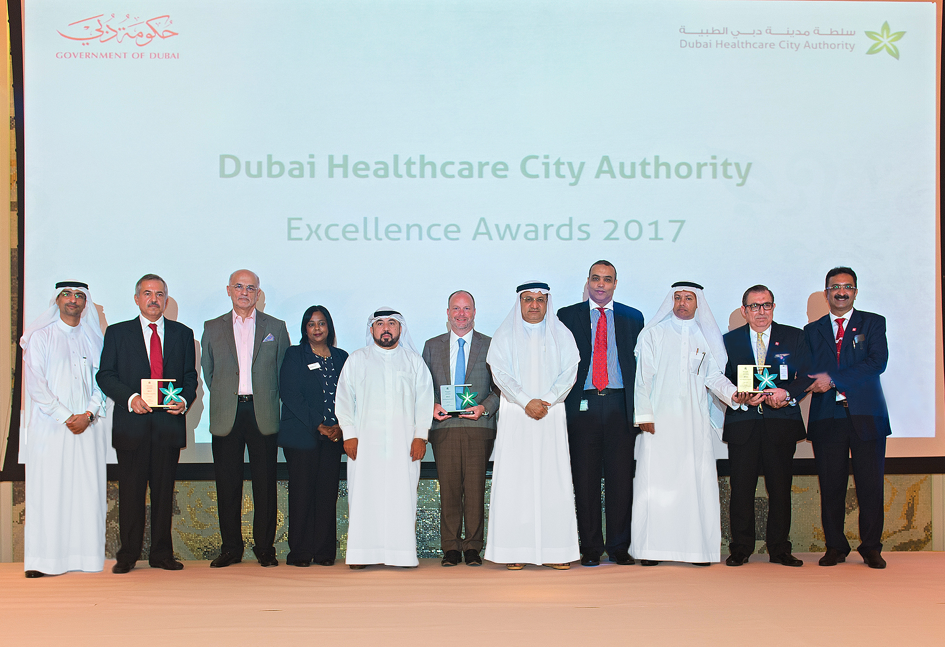 dubai healthcare city authority announces the winners of the first excellence awards, recognizing quality standards and innovative clinical initiatives within the free zone